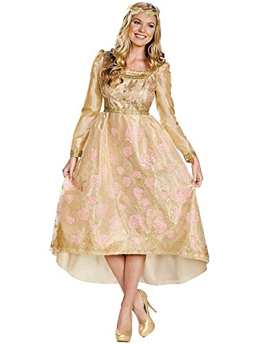 Disguise Women's Disney Maleficent Aurora Coronation Gown Deluxe Costume, Multi, 8-10]()