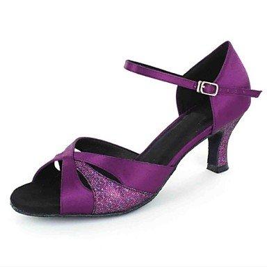 XIAMUO Latein individuelle Damen Sandalen angepasste Ferse mit Buckie Dance Schuhe (weitere Farben), Champagner, US 8 / EU 39/UK6/CN 39