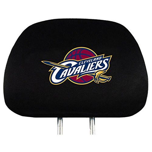 Cleveland Cavaliers 2-pack BLACK Auto Head Rest Covers Cover Basketball Headrest - Team Logo Black Covers Headrest