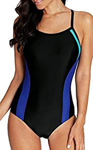 BeautyIn Women's Racerback One Piece Swimming Suits Athletic Training Swimsuits