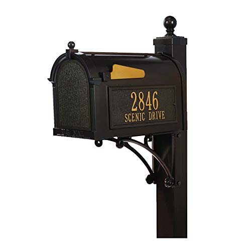 Whitehall Products Streetside Deluxe Capitol Mailbox Package (Bronze)
