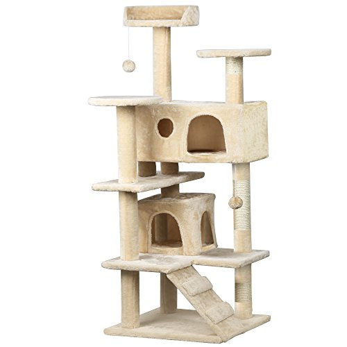 Yaheetech Cat Tree Scratcher Play House Condo Furniture (Cat Tree House)