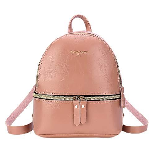 Rakkiss Women Backpack Linoleum Pure Color School Bag Mini Z
