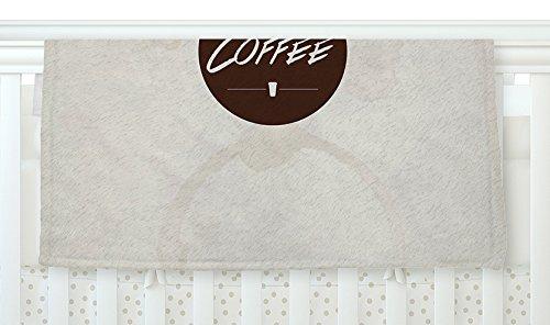 Coffee Beige Brown Fleece Baby Blanket KESS InHouse Juan Paolo But First 40 x 30