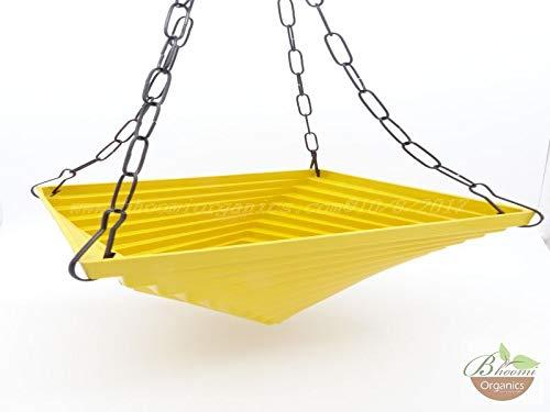 Antier Twister Yellow Hanging Chain Pot/Decorative Twister Pot