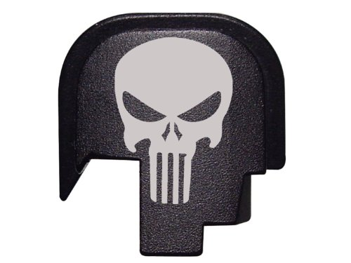 Fixxxer Rear Cover Plate fits Smith & Wesson S&W M&P SHIELD pistol 9mm .40, Tactical Skull design