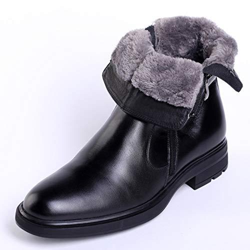 LOVDRAM Stiefel Männer Herren Wintermode Baumwolle Stiefel Spitz Einzelnen Reißverschluss Handsome Martin Stiefel Tragen Warmen Männer Stiefel Slip