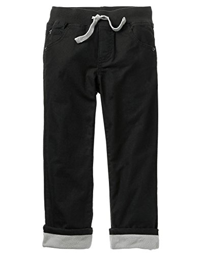 Pants Fully Lined (Gymboree Boys' Lined Denim, Black, 10)