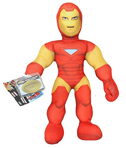 Iron Man Marvel Superhero Squad 12 Inch Posable Plush Toy with Code for Unlockable Online Character
