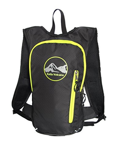Price comparison product image Hydration Backpack with 2L PBA Free Bladder, Camelbak Hydration Backpack By Katla Volcano - Non Leaking, Large and Small Compartments, Adjustable Straps, Sweat Resistant