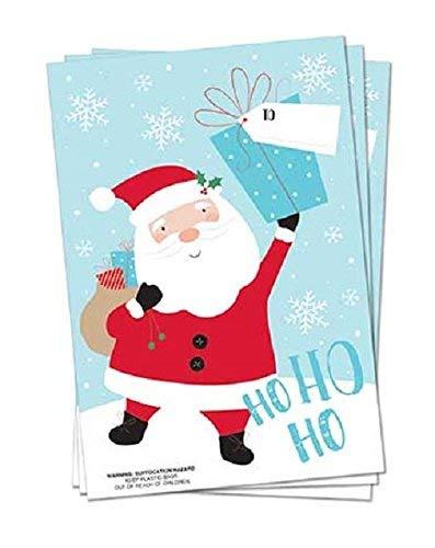 "30/"" x 20/"" PACK OF 3 APPROX 76cm x 51cm PVC CHRISTMAS SANTA SACKS"