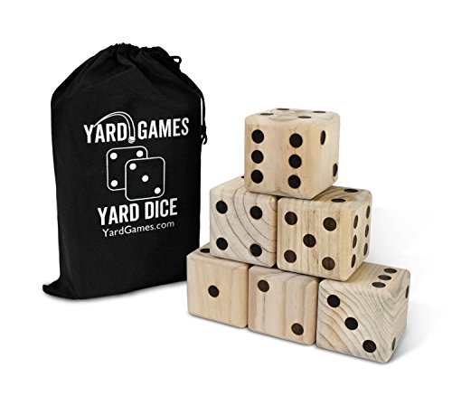 Giant Wooden Yard Dice