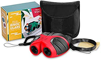 JRD&BS WINL Compact Shock Proof Binocular for Kids – Mini Binoculars for Children,Best Gifts-Birthday Gifts for Kids