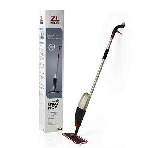 Spray Mop by Ze and Li, Special Designed Spray System, 360 Degree Swivel For All Corners, Extra Microfiber Pad
