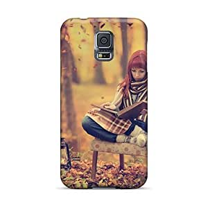 Galaxy S5 Case Cover Skin : Premium High Quality Girl In Forest Case