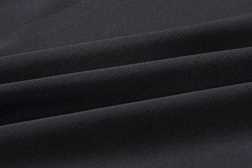 Irregulier Blouses V Manches Bandage T Mode Noir Femme Unie t Courtes Col Couleur Chemisiers Tops Haut Shirts tUwP7XxqSX