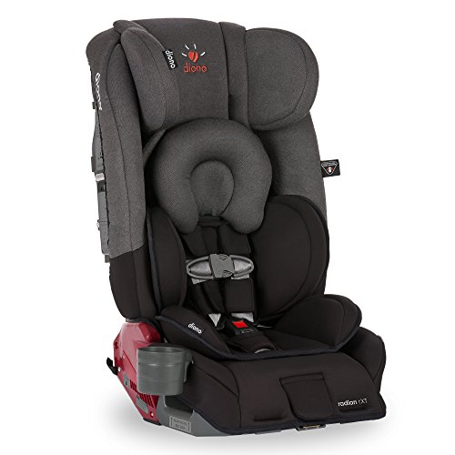 Diono Radian RXT All-In-One Convertible Car Seat, Black Mist