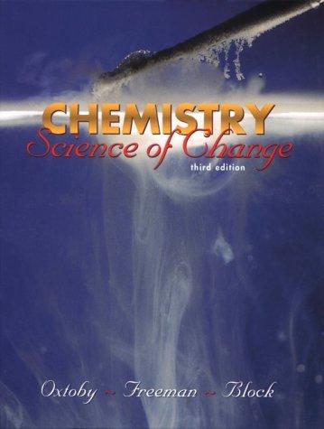 Chemistry: Science of Change (Saunders Golden Sunburst Series)