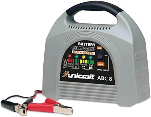 Unicraft Batterieladegerät ABC 8 (Batterieerhaltungsgerät; für Wet-, Gel- und AGM Batterien, 12V), 6850200