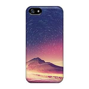 Iphone 5/5s Case Bumper Tpu Skin Cover For Beautiful Starry Evening Sky Accessories