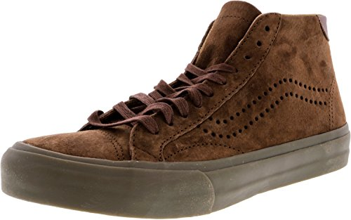 Vans Mens Court Mid Dx Lage Top Vetersluiting Sneakers Cappuccino / Donkere Gom