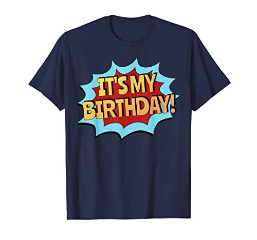It's My Birthday Kids Shirt - Superhero Style, Boys & Girls ()