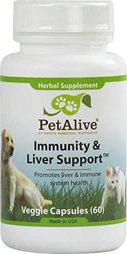 PetAlive Immunity and Liver Support -- 60 Veggie Caps