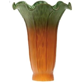 Meyda Dale Tiffany Style Pond Lily Flower Glass