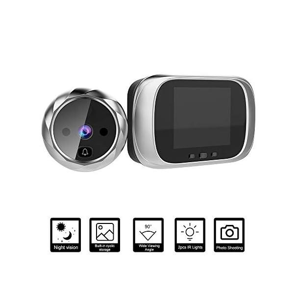 OWSOO Mirilla Digital con Pantalla LCD de 2.8 Pulgadas, Visor Mirilla Puerta, Soporte Vision Nocturna, Tomas de Fotos…