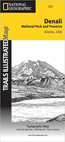 Denali National Park Topographic Map.Trails Illustrated National Parks Map Denali Nat L Park Trails