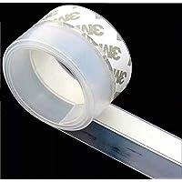 Veda Porta 5m X 3,5cm Fita Silicone Janela Protetor Adesivo Transparente