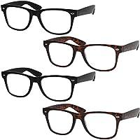 4 Pairs Deluxe Reading Glasses - Standard Fit Spring Hinge Readers
