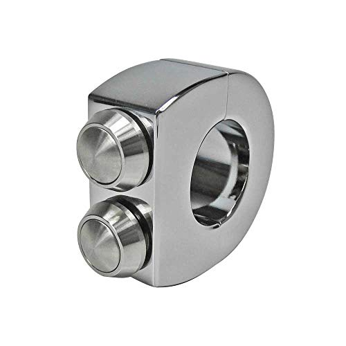 - Custom 2-Button Chrome Billet Aluminum Handlebar Switches Clamp for 1