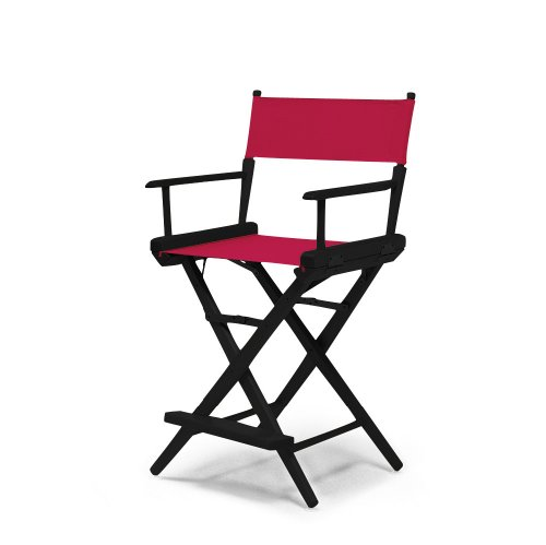 Telescope Casual World Famous Counter Height Director Chair, Red with Black Frame by Telescope Casual