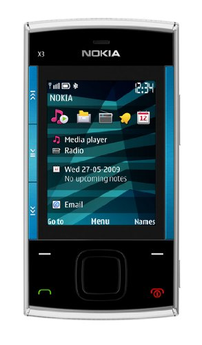 Nokia X3 Slider GSM Quad-Band Unlocked Cell Phone with 3.5 MP Camera and 2 GB SD Slot Memory -- U.S. Version with Warranty (Blue)