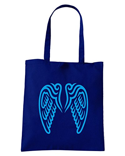 T-Shirtshock - Bolsa para la compra FUN0596 angle wings decal 1 11350 Azul Marino