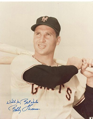 Autographed Bobby Thomson Photograph - 8x10 W COA - Autographed MLB Photos