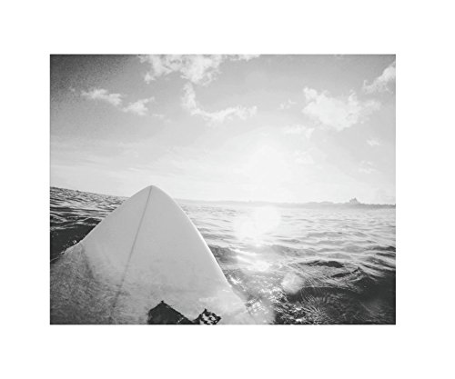 Aloha-Surf-Hawaiian-Poster-Print-Art-11-x-14-Inches-Black-White-Grey-Color-Modern-Home-Decor-Office-Space-Artwork