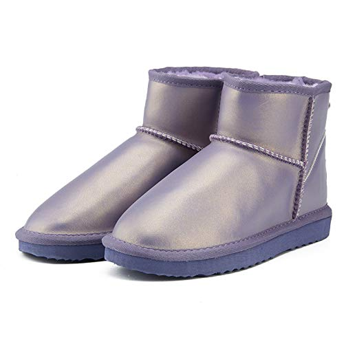 Fumak Waterproof Genuine Leather Fur Winter Boots Warm Women Boots Classic Snow Boots Women Shoes Lady Ankle Shoes