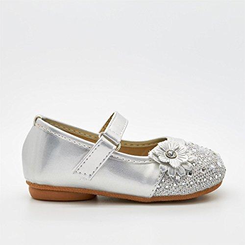 London Schuhe Lila, Infant Mädchen Mary Jane Silber