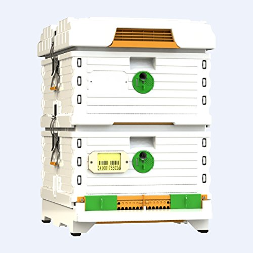 Super Trap Entrance - Apimaye Langstroth size Insulated Bee Hive Set [No Frames included] (White)
