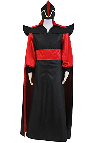Sidnor Aladdin Jafar Villain Cosplay Costume Outfit Full Suit (Male:Medium) -