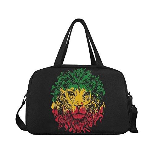 InterestPrint Rasta African Lion Travel Duffel Bag Sports Gym Bag for Men Women Review