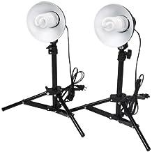 CowboyStudio Photography Table Top Photo Studio Lighting Kit - 2 Light Kit