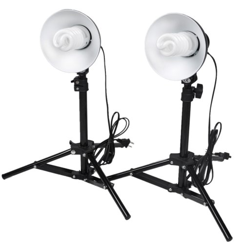 CowboyStudio Photography Table Top Photo Studio Lighting Kit – 2 Light Kit