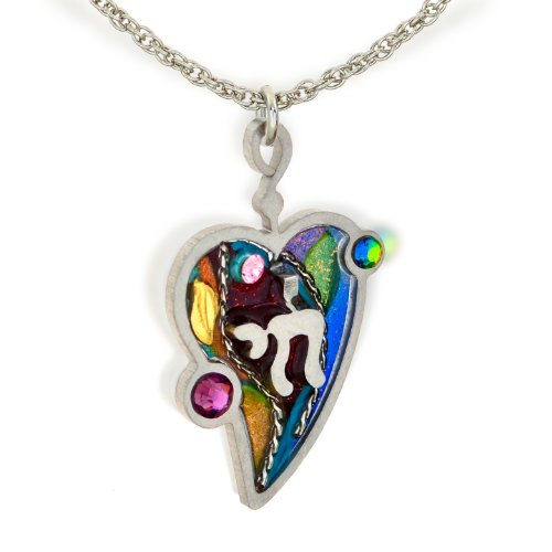The Artazia Collection Seeka Judaic Chai Life & Heart Love Necklace N0402 (Collection Judaic)