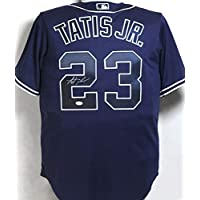 $235 » Fernando Tatis Jr. Autographed San Diego Padres Blue Majestic Jersey - JSA Auth 2
