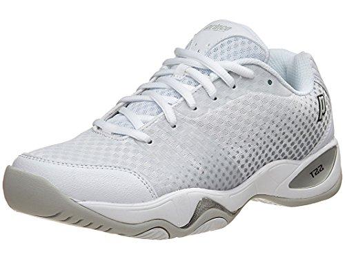 Prince Court Shoes (Prince Women's T22 Lite Tennis Shoes (White/Silver) (7 B(M) US))