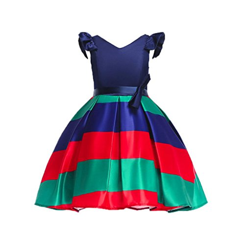 Goodlock Toddler Kids Fashion Dress Baby Girl Bowknot Wedding Bridesmaid Pageant Princess Dress Clothes Outfit (❤️Red, Size:8T) -