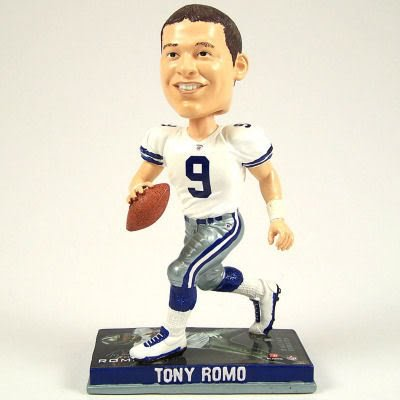 DALLAS COWBOYS TONY ROMO LIMITED EDITION PHOTO BASE BOBBLEHEAD BOBBLE by forever